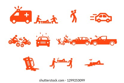 Car accidents motorbike
