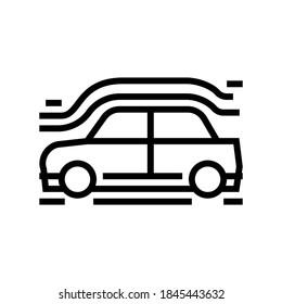 car aerodynamics test line icon vector. car aerodynamics test sign. isolated contour symbol black illustration
