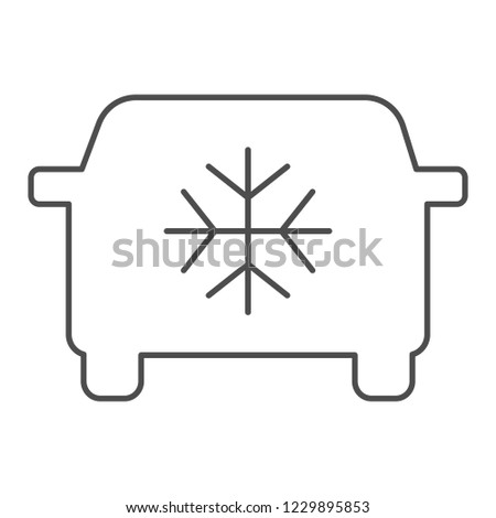 car air conditioning thin line icon stock vector (royalty freecar air conditioning thin line icon car conditioner vector illustration isolated on white automobile airflow outline style design, designed for web and