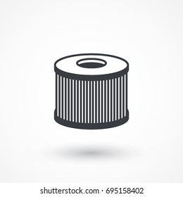 Car air filter vector icon. Automobile repair service symbol. Car engine part shop sign. Logo graphic design concept. Logotype, icon, template in web and print