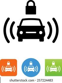 Car alarm icon