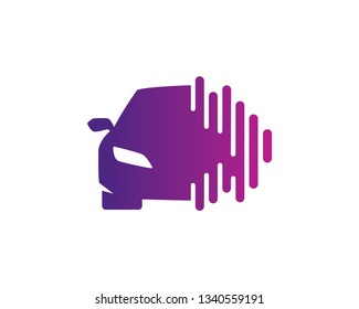 Car Audio Logo Template, Icon, Symbol - Vector