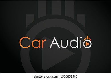Car Audio, Music Car system, Maintenance, Beat logo design template