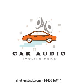 car audio sound logo design - Vector