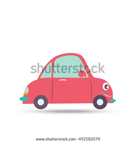 Car Auto Cartoon Retro Kids Little Stock Vector Royalty Free