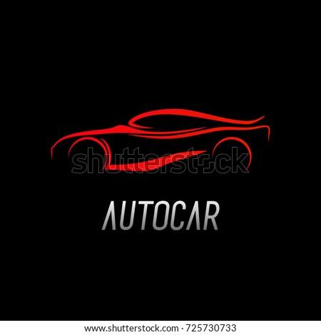 Car Auto Logo Stock Vector Royalty Free 725730733 Shutterstock