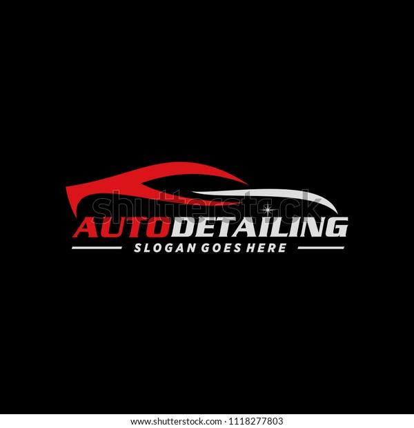Car Automotive Auto Detailing Logo Stock Vector Royalty Free