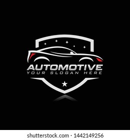 Car automotive logo template vector illustration