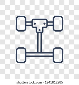 car axle icon. Trendy linear car axle logo concept on transparent background from car parts collection