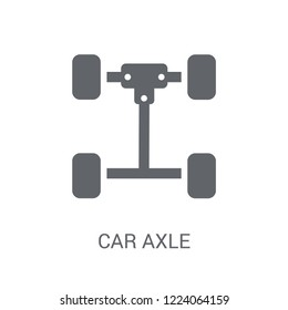car axle icon. Trendy car axle logo concept on white background from car parts collection. Suitable for use on web apps, mobile apps and print media.