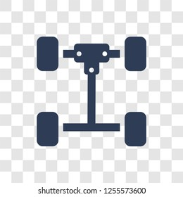 car axle icon. Trendy car axle logo concept on transparent background from car parts collection