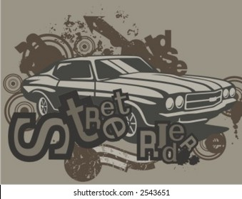 Similar Images Stock Photos Vectors Of Vintage Muscle Cars