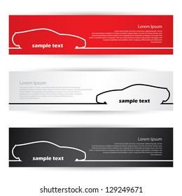 Car banners - vector illustration