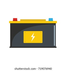 Car battery icon. Flat illustration of Car battery vector icon for web isolated on white background