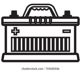 Car Battery Icon - Illustration