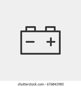 Car battery  icon illustration isolated vector sign symbol