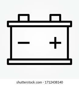 Car Battery icon isolated on white background. Accumulator battery energy power and electricity accumulator battery.