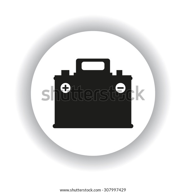 car battery. icon. vector design