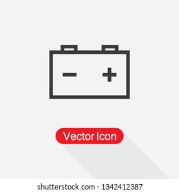 Car Battery Icon Vector Illustration Eps10