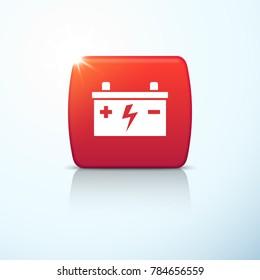 Car battery icon. Vector illustration
