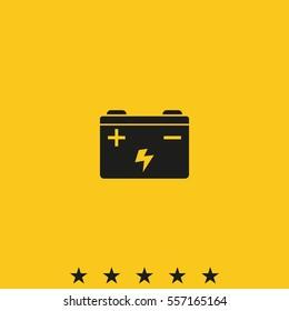 Car battery vector icon.