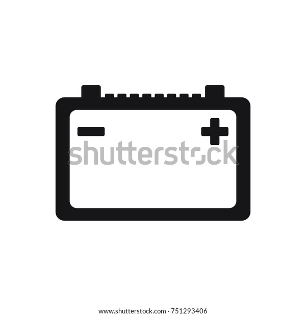 car battery vector icon battery icon stock vector royalty free 751293406 shutterstock