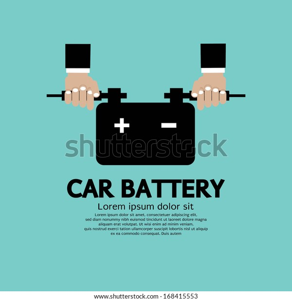 car battery vector illustration stock vector royalty free 168415553 https www shutterstock com image vector car battery vector illustration 168415553