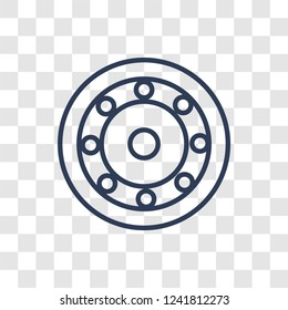 car bearing icon. Trendy linear car bearing logo concept on transparent background from car parts collection