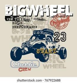car big wheel vector