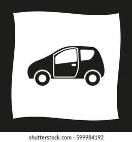 Car -  black vector icon