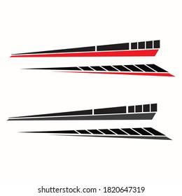 car body sticker design vector. yacht boat body sticker
