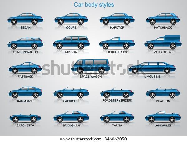 Car Body Styles Stock Vector Royalty Free 346062050