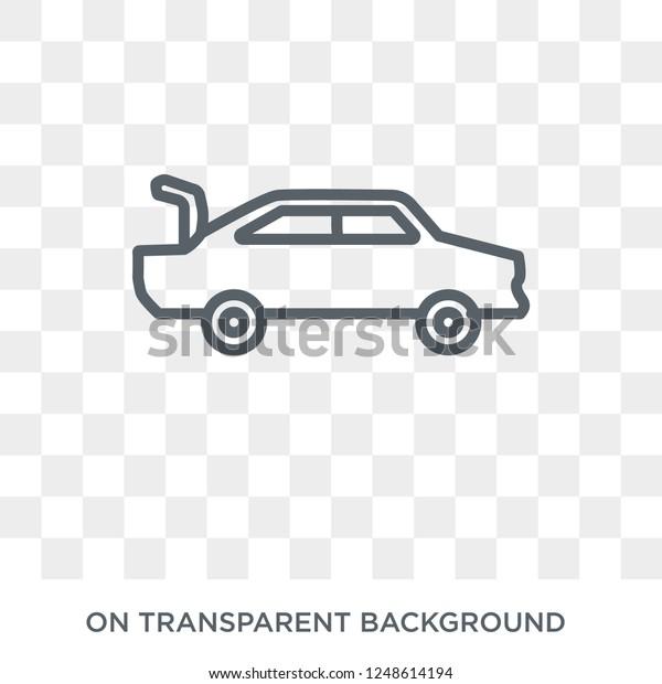 Car Boot Icon Car Boot Design Stock Vector Royalty Free 1248614194