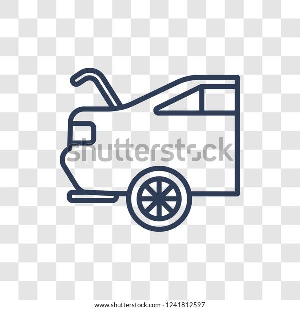 Car Boot Icon Trendy Linear Car Stock Vector Royalty Free 1241812597