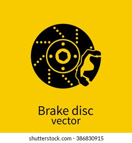 Car brake discs icon. Car parts. Vector illustration.