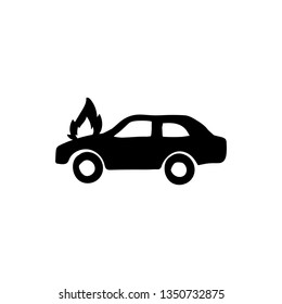 car burn out doodle vector