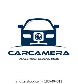 Car camera vector logo template. This design use transportation symbol. Suitable for capture technology.