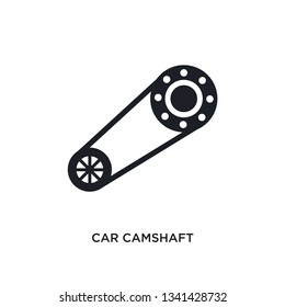 car camshaft isolated icon. simple element illustration from car parts concept icons. car camshaft editable logo sign symbol design on white background. can be use for web and mobile