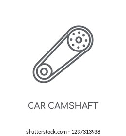 car camshaft linear icon. Modern outline car camshaft logo concept on white background from car parts collection. Suitable for use on web apps, mobile apps and print media.