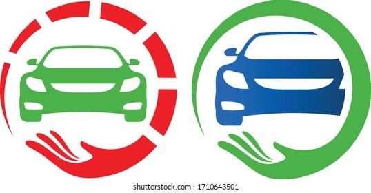 car care logo for car servicing and repairing business logo designs