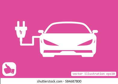 Car charging icon vector illustration eps10.