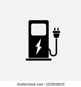 Car charging station icon. Car charging station symbol. Flat design. Stock - Vector illustration