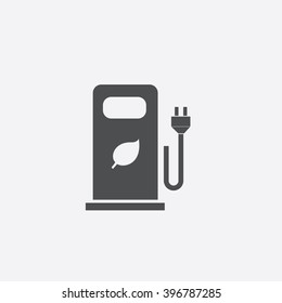 Car charging station Icon Vector.