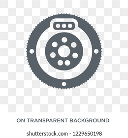 car clutch icon. car clutch design concept from Car parts collection. Simple element vector illustration on transparent background.