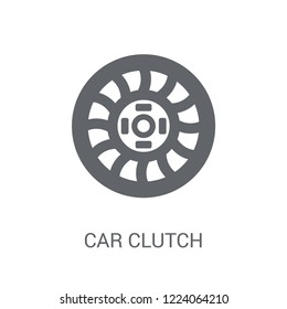 car clutch icon. Trendy car clutch logo concept on white background from car parts collection. Suitable for use on web apps, mobile apps and print media.
