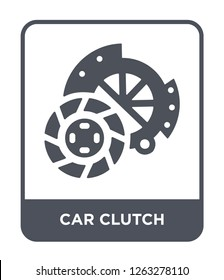car clutch icon vector on white background, car clutch trendy filled icons from Car parts collection, car clutch simple element illustration