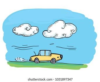 Car co2 smoke