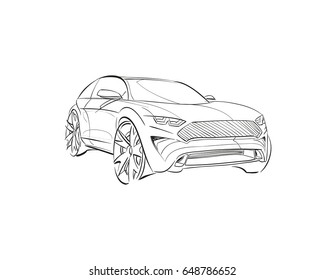 car sketch images  stock photos  u0026 vectors