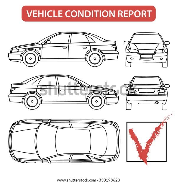 Car Condition Form Vehicle Checklist Auto Stock Vector Royalty Free