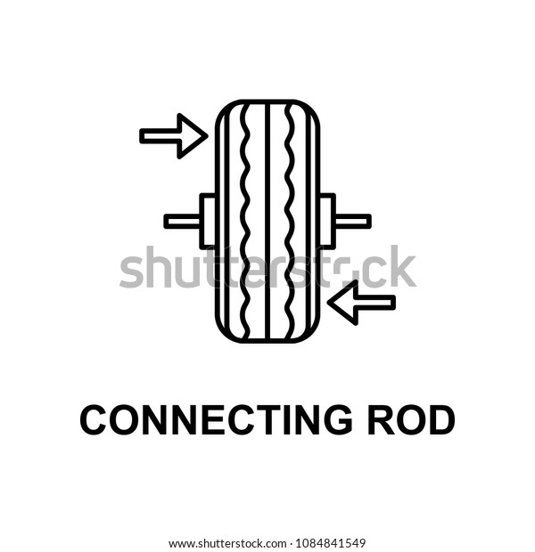 car connecting rod icon. Element of car repair for mobile concept and web apps. Detailed icon can be used for web and mobile. Premium icon on white background